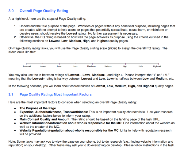 Search Quality Guidelines